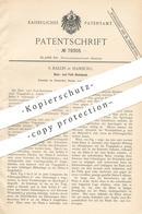 Original Patent - S. Ballin , Hamburg , 1894 , Ruhebank Für Beine & Füße   Fußbank , Bank , Hocker , Stuhl , Möbelbauer - Documenti Storici