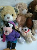 7 PELUCHE ORSACCHIOTTI E ALTRI TIPI + IN OMAGGIO VARI GIOCHI PER BAMBINI - Cuddly Toys