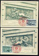 FR - Timbre Croix Rouge N° 937 Et 938 Sur Deux Cartes Maximum - Cachets La Croix Rouge Et La Poste Metz 13-12-1952 - TB. - 1950-59