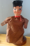 Véritable Marionette De Lyon En Bois Et Tissu - Puppets