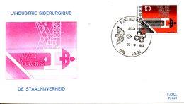 BELGIQUE. N°2104 De 1983 Sur Enveloppe 1er Jour. Sidérurgie. - Usines & Industries