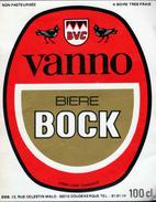 * ETIQUETTE BIERE VANNO - Bière
