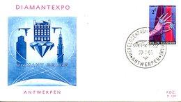 BELGIQUE. N°1314 De 1965 Sur Enveloppe 1er Jour. Diamant. - Minéraux