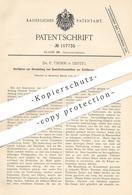 Original Patent - Dr. P. Thimm , Leipzig  1899 , Desinfektionsmittel - Herstellung Zur Einführung In Körperhöhlen   Arzt - Documenti Storici