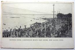 BATHING SCENE - LIGHTHOUSE BEACH , EAST SHORE - NEW HAVEN - Altri