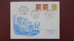 Algerie Lettre Mars 1962 Oblitération S.A.S Beni- Ouazzane  Pour Le SP 86.520 - Algérie (1924-1962)