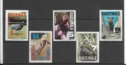 GUATEMALA 1979, FAUNA, ANIMALS, BIRDS, TUCAN, OWL, 5 VALUES  MICHEL 1124-28, SCOTT C670-74 - Guatemala