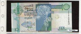 Banconota Seychelles 10 Rupie - Seychelles