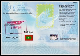 MALDIVES  Is41A  MVR 35,00  20180515  AA  International Reply Coupon Reponse Antwortschein IAS IRC Hologram O 25.11.2018 - Malediven (1965-...)
