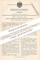 Original Patent - Pietro Albertini , Rom , Italien , 1890 , Abdruck Von Blumen & Blättern In Bronze , Messing , Metall - Documenti Storici