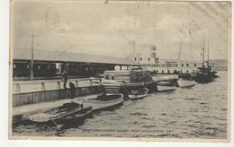 PENETAGUISHENE, Ontario, Canada,  Boats & Steamship At Wharf, 1932 WB Postcard, Simcoe County - Ontario