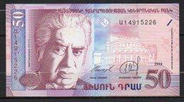 518-Arménie Billet De 50 Dram 1998 U149 Neuf - Arménie