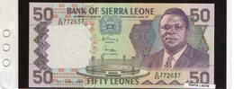 Banconota Sierra Leone 50 Leones - Sierra Leone