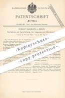 Original Patent - Rudolf Bamman , Berlin , 1893 , Herstellung Von Marmorputz   Gips , Kalk , Weißkalk   Marmor   Maurer - Documenti Storici