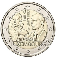 LUXEMBOURG 2 EURO 2018 - Guillaume I - UNC - Luxembourg