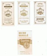 SUCRE VANILLE-BORDEAUX-ETS FOULON (3 Sachets) ET DANDICOLE(1 Sachet)- - Sucres