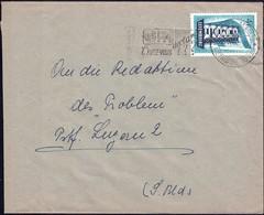 1958 Lettre Esch-Sur-Alzette Vers Luzern 2, Michel: 557 Bleu  2Scans - Luxembourg