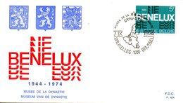 BELGIQUE. N°1721 Sur Enveloppe 1er Jour De 1974. Emission Commune Avec Les Pays-Bas/Benelux. - Emissions Communes