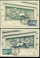 FR -Timbres Croix Rouge N° 937 Et 938 Sur Deux Cartes Maximum - Cachets Expo. Philatélique Et Agriculture Paris 13-12-52 - Maximum Cards