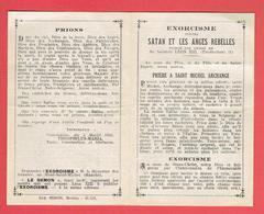 PRIERE D EXORCISME CONTRE SATAN ET LES ANGES REBELLES 1941 SA SAINTETE LEON XIII PRIERE A SAINT MICHEL ARCHANGE - Religion & Esotérisme