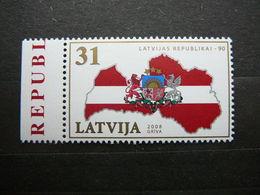 90th Anniversary Of Latvian Republic # Latvia Lettland Lettonie # 2008 MNH #Mi. 747 - Lettonie
