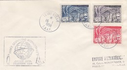 TAAF. TERRE ADELIE. 15 JANVIER 1958. ANNEE GEOPHYSIQUE INTERNATIONALE / 465 - Lettres & Documents