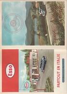 Rare Dépliant Touristique Années 50 Visitez L'Italie En Auto Avec Esso - Tourism Brochures