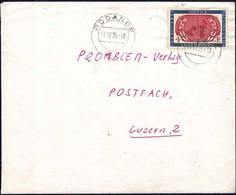 1955 Lettre Rodange Vers Luzern 2, Michel: 539  4F - Luxembourg