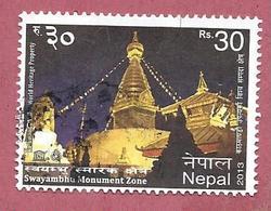 NEPAL USATO - 2013 - UNESCO World Heritage - Swayambhu Monument Zone - 30 Rs - Michel NP ---- - Nepal