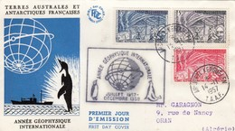 TAAF. FDC. ARCHIPEL KERGUELEN. 14 NOV 1957. ANNEE GEOPHYSIQUE INTERNATIONALE / 465 - FDC
