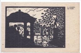 Scherenschnitt  C. Langer - Im Park     (AK-81381-91) - Silhouettes