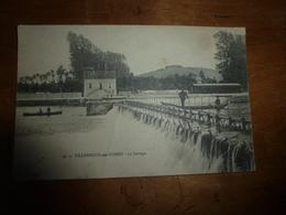 CPA VILLENEUVE Sur YONNE Datée De 1908:  Le Barrage  ( 2 Barques , 4 Personnes) - Villeneuve-sur-Yonne