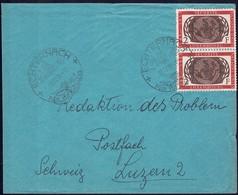1955 Lettre Echternach Vers Luzern 2, Cachet Spécial, Michel: Paire 538  2F  2Scans - Luxembourg