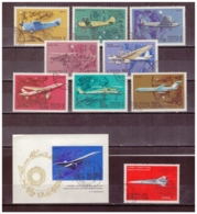 URSS740) 1969- Storia Aviazione Sovietica E MIG- Serie Cpl 8val. Unif. 3559-66 E BF 58 + 3557 USED - 1923-1991 USSR