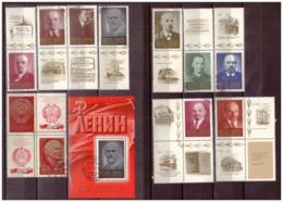 URSS745) 1970 - Centenario Nascita Di Lenin - Serie Cpl 10 Val E BF62 USED - 1923-1991 USSR