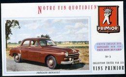 BUVARD VIN PRIMIOR N° 3 - Automobile - FREGATE RENAULT - Automobile