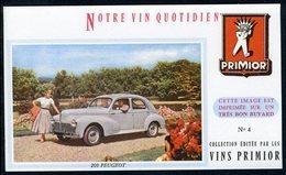 BUVARD VIN PRIMIOR N° 4 - Automobile - 203 PEUGEOT - Automobile