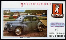BUVARD VIN PRIMIOR N° 2 - Automobile - 4CV RENAULT - Automobile