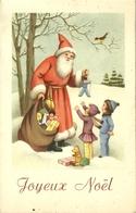 FANTAISIE ILLUSTRATEUR JOYEUX NOEL PERE NOEL SANTA CLAUS ENFANTS JOUETS OURS - Santa Claus