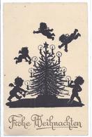 Scherenschnitt  Weihnachtskarte    (AK-81381-87) - Silhouettes