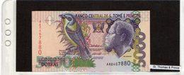 Banconota St. Thomas & Prince 5000 Dobras - Sao Tomé Et Principe