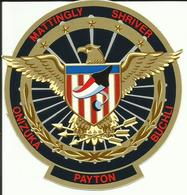 Autocollant SPACE SHUTTLE DISCOVERY - MISSION STS-51C - MATTINGLY / SHRIVER / BUCHLI / PAYTON / ONIZUKA - ESPACE - Autocollants
