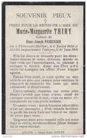THIBESSART , 1850 ..-- TINTIGNY , 1916 ..-- Marie - Marguerite THIRY , épouse De Mr Henri - Joseph FASBENDER . - Léglise