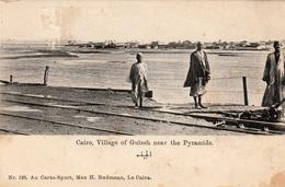 EGYPTE - Cairo (Le Caire) - Village Of Guizeh Near The- Pyramids- Non écrite - 2 Scans - Gizeh