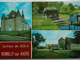 28 - ROMILLY Sur AIGRE - L' Eglise Fortifiée - La Ferme De La Touche Décrite Par Zola - Moulin à Eau. (Multivues) - France