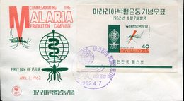 40516  South Korea, S/s Fdc 1962 Malaria Eradication Campaign, - Medicina