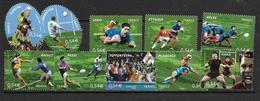France 2007 N° 4063-72 Neufs Coupe Du Monde De Rugby Sous Faciale - France
