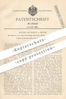 Original Patent - Walter Büchelen , Berlin , 1901 , Sterile Salben   Salbe , Apotheker , Medizin , Pharmazie , Creme !! - Documenti Storici