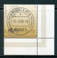 GERMANY Mi. Nr. 2653 150 Jahre Zoologische Gesellschaft Frankfurt - ET Weiden - Eckrand Unten Rechts - Used - BRD
