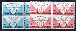 ETP21 - ETIOPIA 1968 , Yvert Serie In Quartina Yvert N 505/506  ***  MNH DIRITTI UMANI - Ethiopia